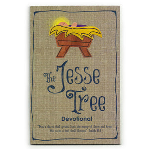 Jesse Tree Felt Christmas Ornaments and Christian Devotional Book