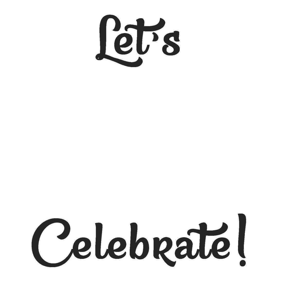 Let's Celebrate! Write Words Reusable Cling