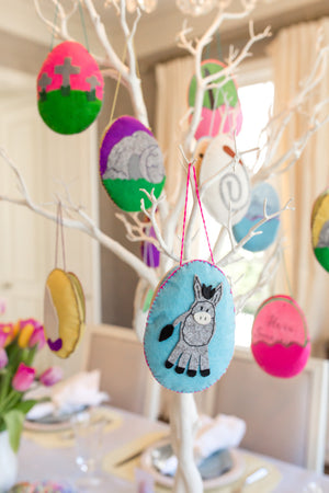 Easter Story Felt Egg Ornaments and Christian Devotional Book