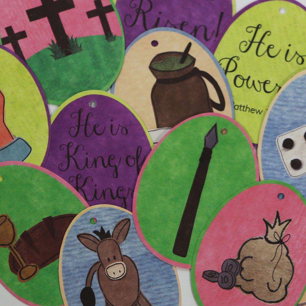 Easter Story Devotional Card Set