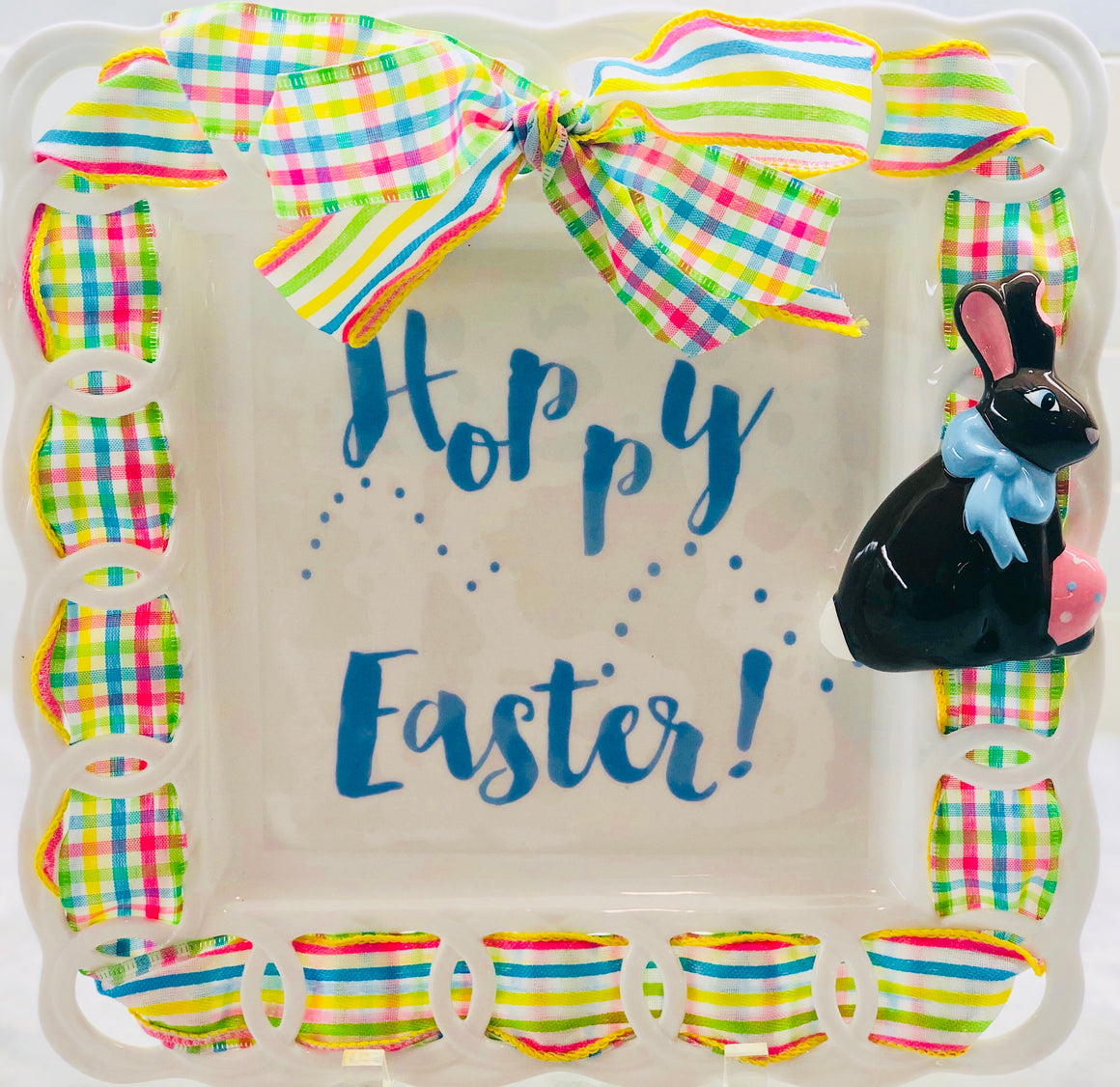"Easter Bunny ""Hoppy Easter"" Kit:  3D Popper, Cling and 2-Ribbon Pack"
