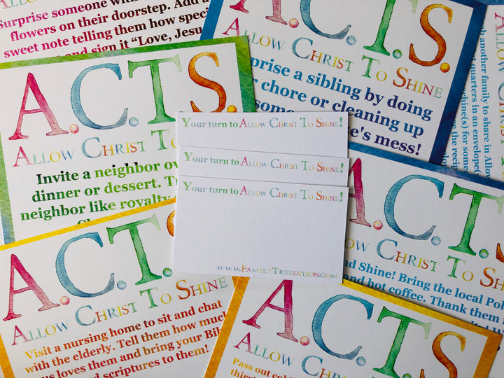ACTS Ornaments Christian Devotional Card Set