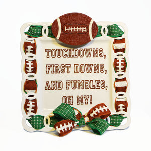 "Football ""Touchdowns, First Downs..."" Kit:  Topper, Cling and 2-Ribbon Pack"