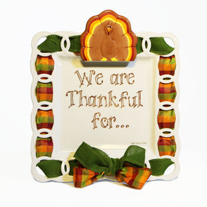 "Thanksgiving ""We Are Thankful For"" Kit: Topper, Cling and 2-Ribbon Pack"