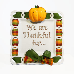 "Thanksgiving Fall Pumpkin ""We Are Thankful For"" Kit:  3D Popper, Cling and 2-Ribbon Pack"