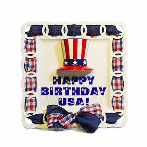 Happy Birthday USA! Write Words Reusable Cling