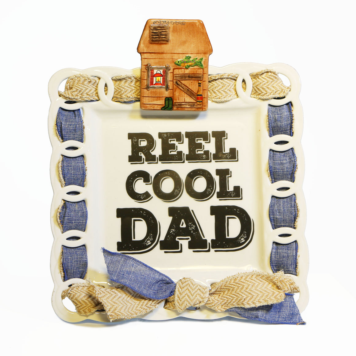 "Father's Day ""REEL Cool Dad"" Kit:  Topper, Cling and 2-Ribbon Pack"