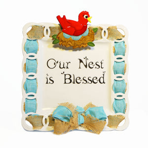 Our Nest  is Blessed! Write Words Reusable Cling