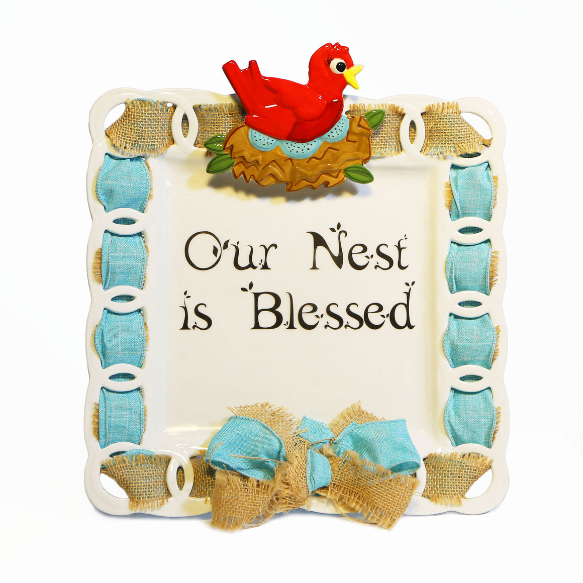 "Mother's Day ""My Nest Is Blessed"" Kit:  Topper, Cling and 2-Ribbon Pack"