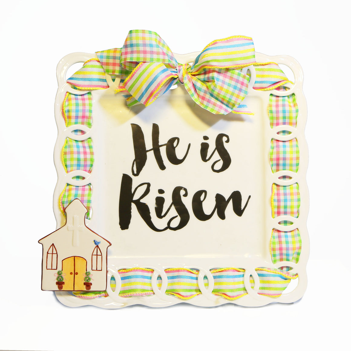 "Easter ""He Is Risen"" Kit:  Topper, Cling and 2-Ribbon Pack"