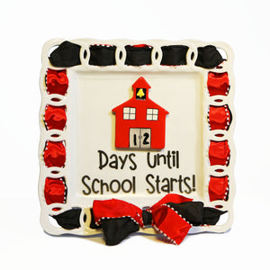 "Back To School ""Days Until School Starts"" Kit:  Topper, Cling and 2-Ribbon Pack"