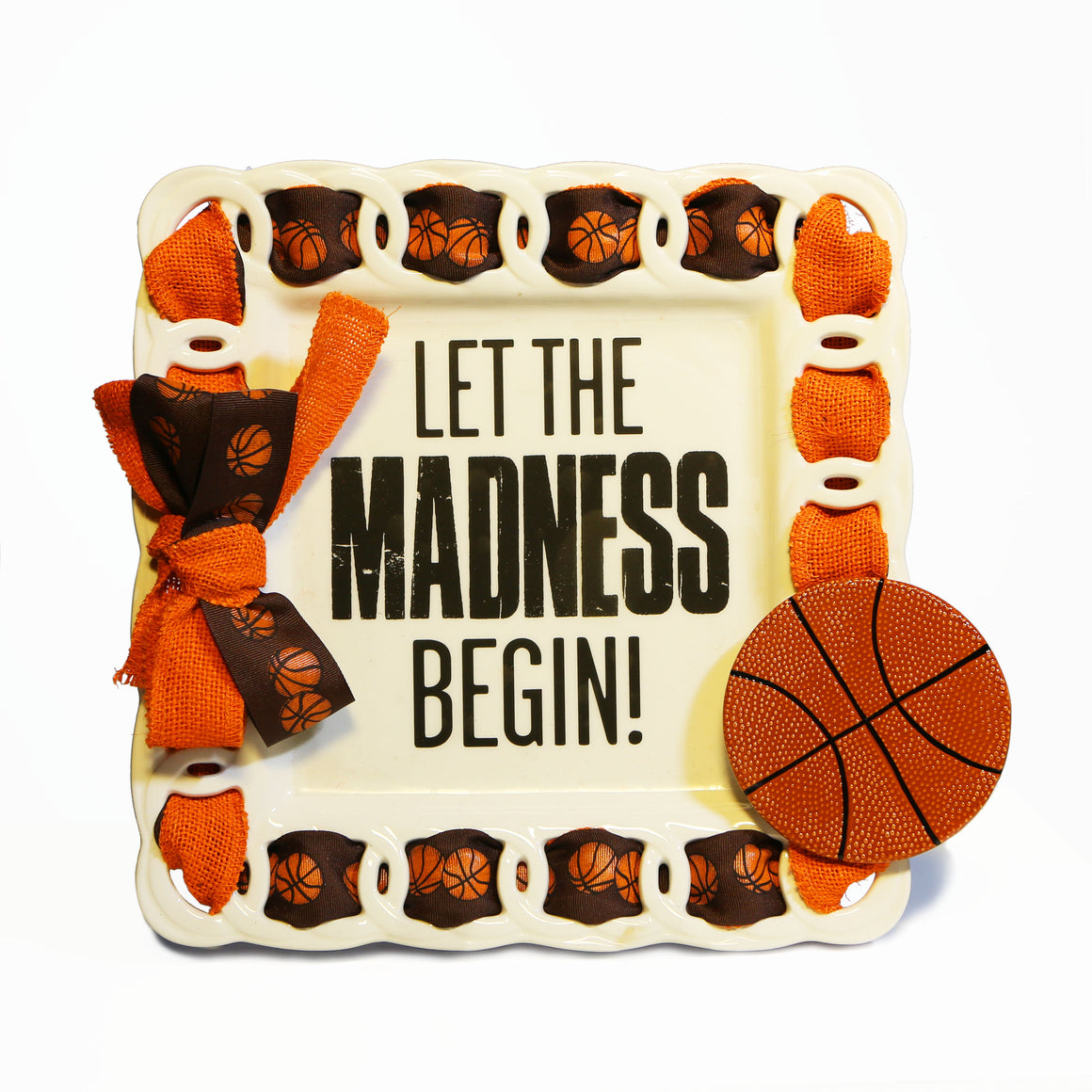 "Basketball ""March Madness"" Kit:  Topper, Cling and 2-Ribbon Pack"