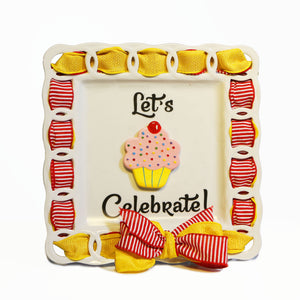 "Birthday ""Let's Celebrate"" Kit:  Topper, Cling and 2-Ribbon Pack"