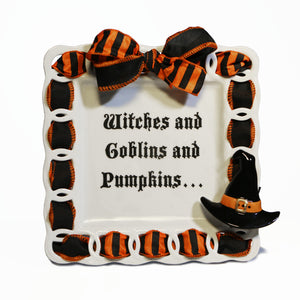 "Halloween Witches Hat  ""Witches And Goblins"" Kit:  3D Popper, Cling and 2-Ribbon Pack"