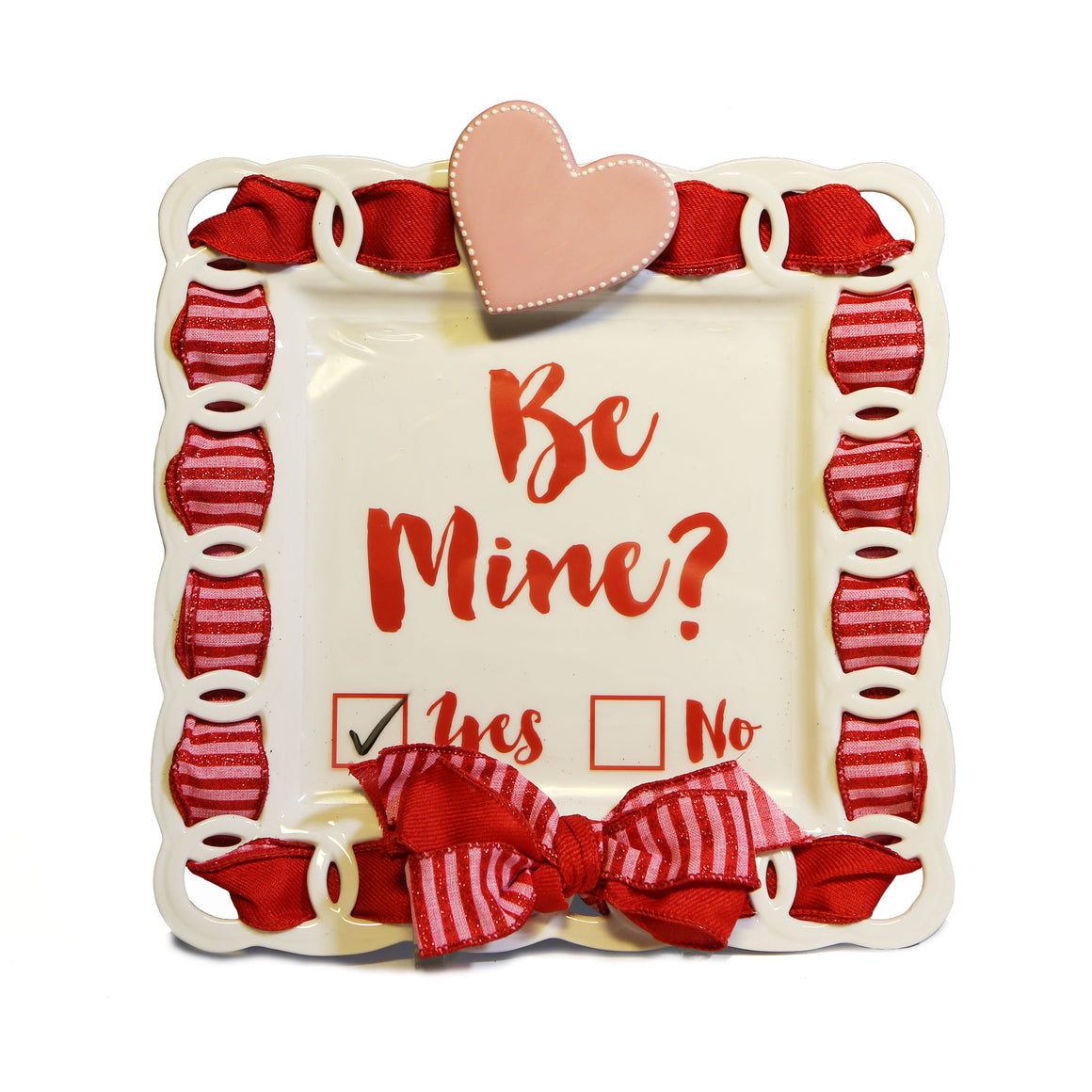"Valentine's Day ""Be Mine"" Kit:  Topper, Cling and 2-Ribbon Pack"