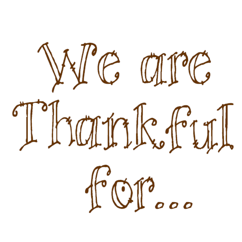 We Are Thankful For Write Words Reusable Cling