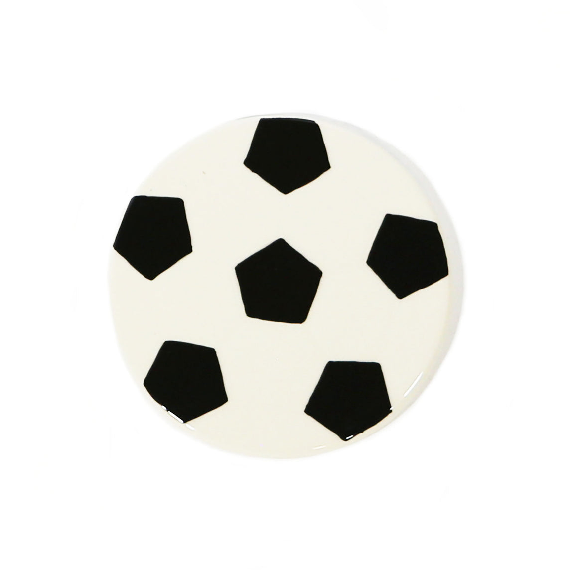 Soccer Ball Hand-Painted Ceramic Magnetic Topper