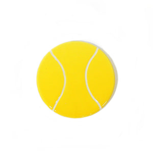 Tennis Ball Hand-Painted Ceramic Magnetic Topper