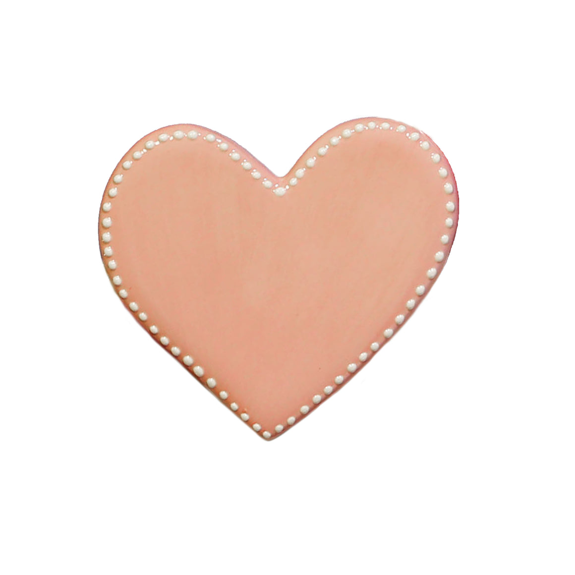 Pink Heart Hand-Painted Ceramic Magnetic Topper