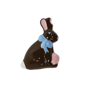 Easter Bunny Hand-Painted Ceramic Magnetic 3D Popper Topper
