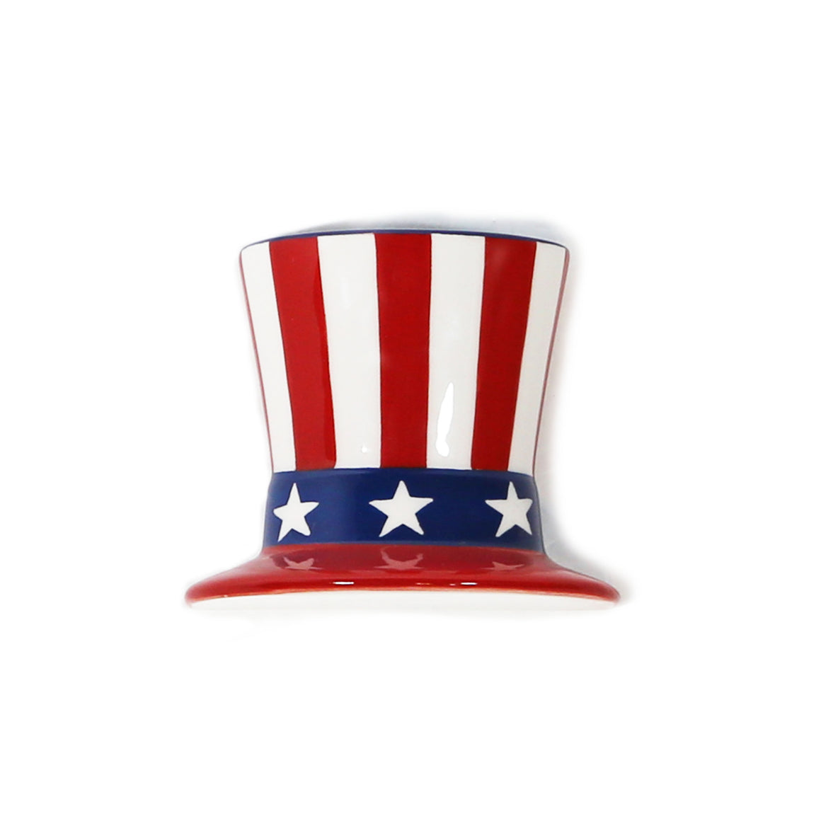 Uncle Sam Hat Hand-Painted Ceramic Magnetic 3D Popper Topper