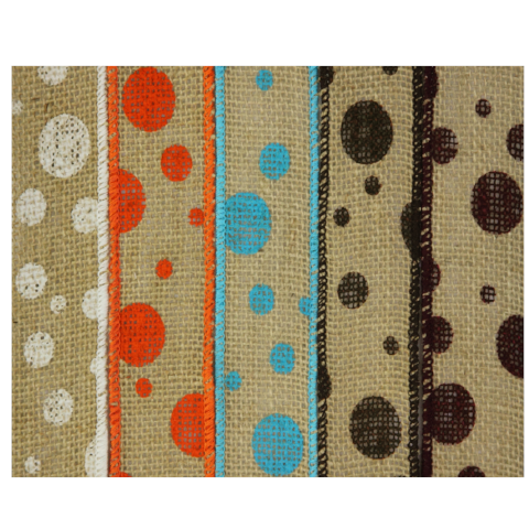 Burlap Dots 5-Pack Ribbon Collection For The Write Plate