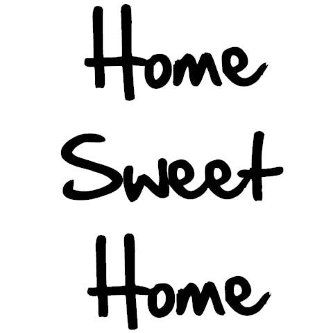 Home Sweet Home Write Words Reusable Cling