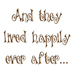 And they Lived Happily Ever After Write Words Reusable Cling