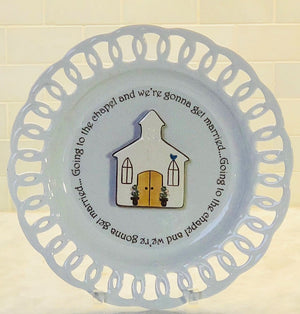 Going to the Chapel Write Words Reusable Cling