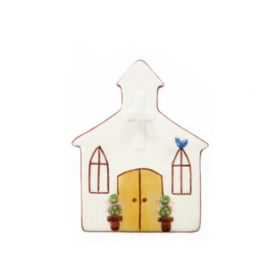 Church Hand-Painted Ceramic Magnetic Topper