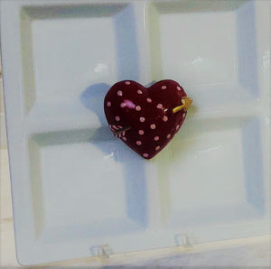 Heart Hand-Painted Ceramic Magnetic Popper Topper