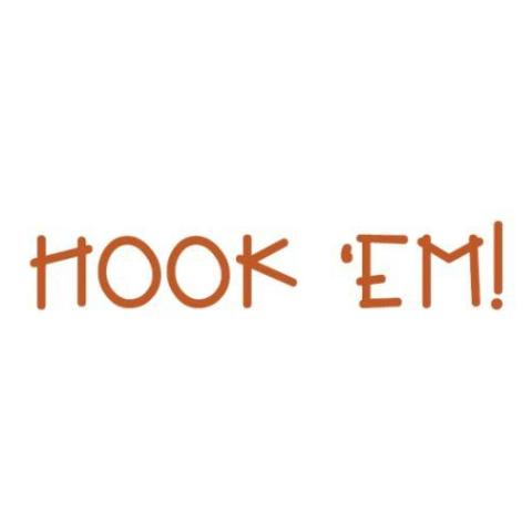 Hook 'em Horns Write Words Reusable Cling