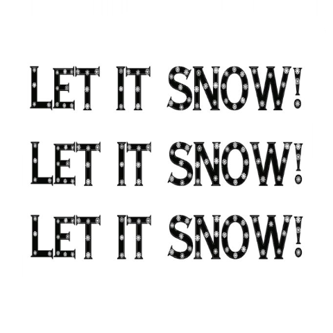 Let it Snow! Write Words Reusable Cling
