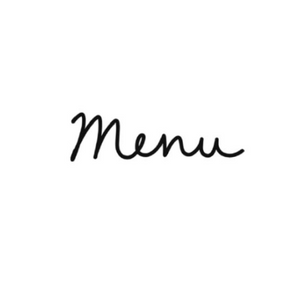 Menu Write Words Reusable Cling