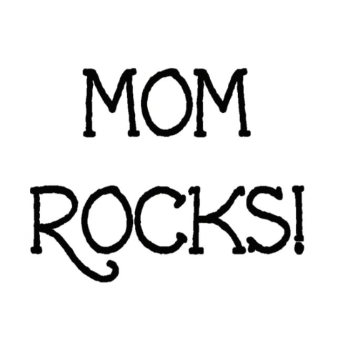 Mom Rocks! Write Words Reusable Cling