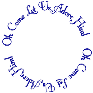 Oh Come Let Us Adore Him Write Words Reusable Cling