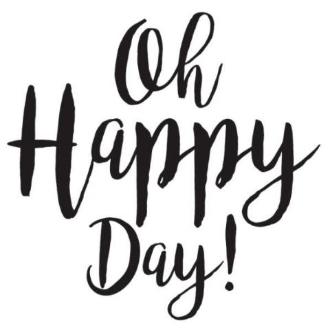 Oh! Happy Day! Write Words Reusable Cling