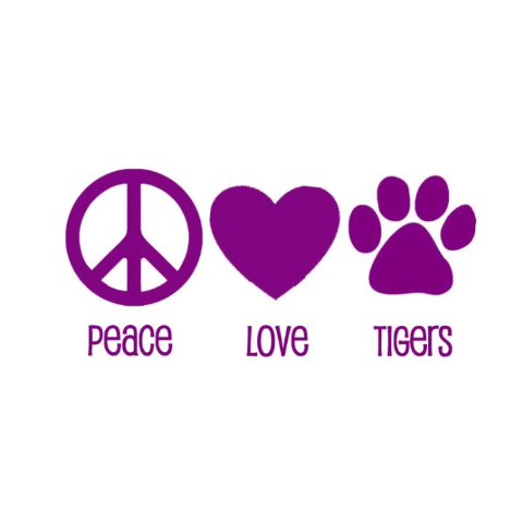 Peace Love Tigers Write Words Reusable Cling