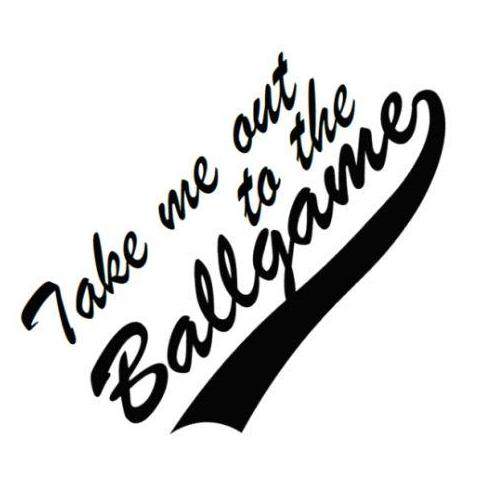 Take me out to the Ballgame Write Words Reusable Cling