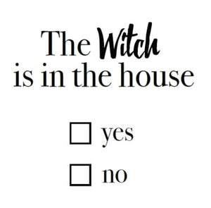 The Witch is in the House Write Words Reusable Cling