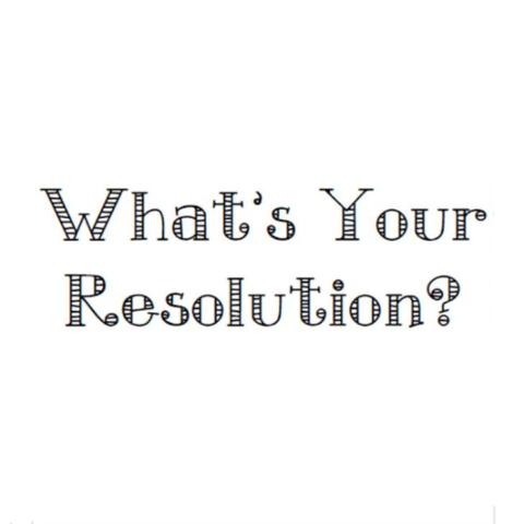 What's Your Resolution? Write Words Reusable Cling