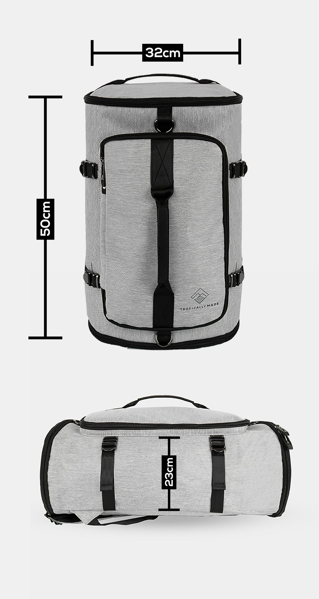 3939473c8941 With multiple pockets and a shoe compartment