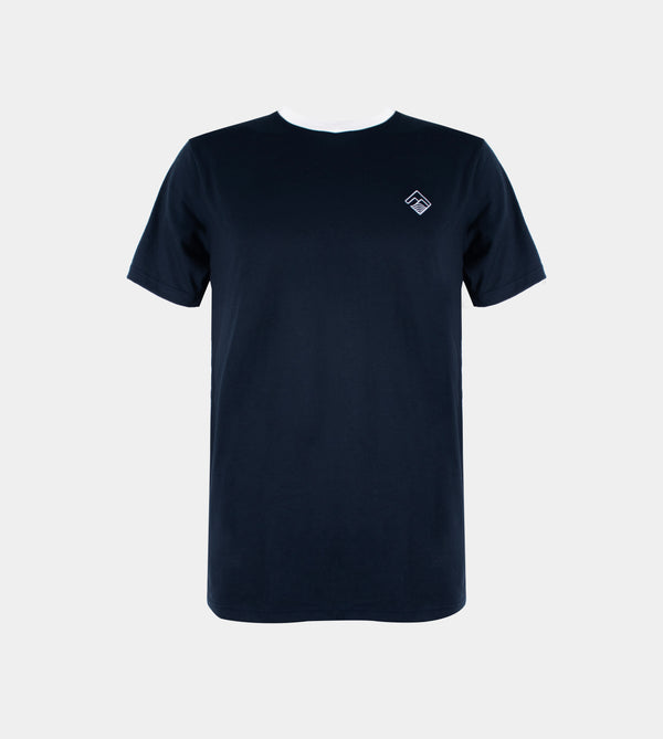 Tropically Made Logo T-Shirt (Denim, White)