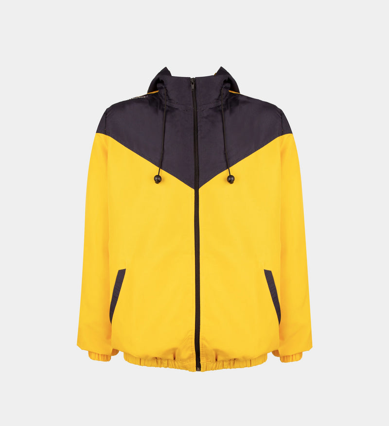 Summit Colorblock Windbreaker (Navy Blue, Yellow)