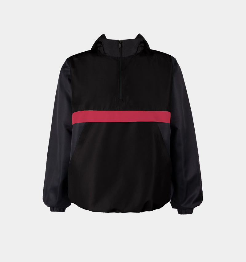 Surge Tricolor Windbreaker (Black, Red)
