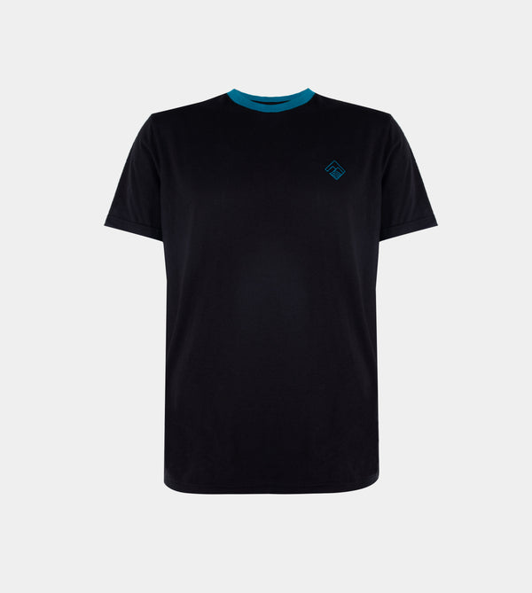 Tropically Made Logo T-Shirt (Black, Azure)