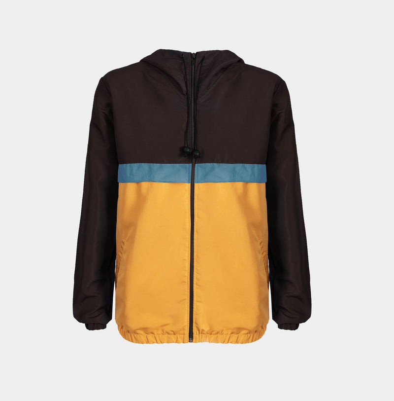 Rainfall Windbreaker (Black, Teal, Mustard)