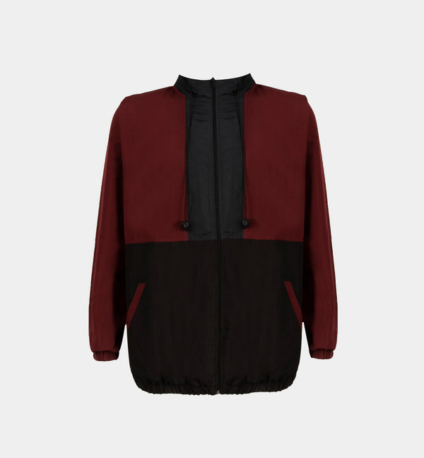 Borderline Tricolor Windbreaker (Maroon,Navy Blue,Black)