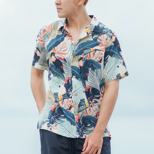 Tropics Cuban Shirt (Utopia, White)