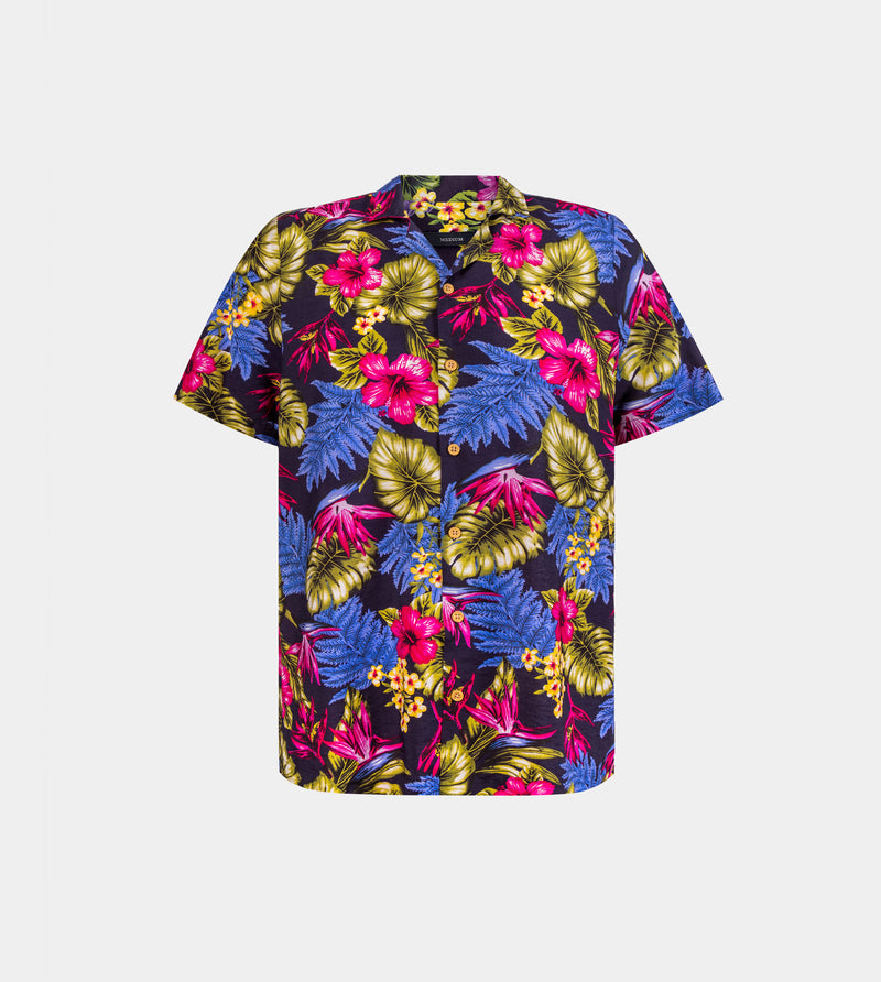 Tropics Cuban Shirt (Bali / TM22, Blue)